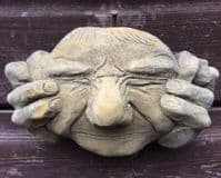 Hear, See, Speak no Evil gargoyle face wall plaques ©